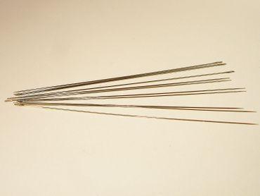 Perlennadeln Fädelnadeln, 80x0,45mm, 5 Stück #MB02