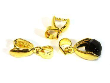 Collierschlaufe Anhänger für Perlen, Gold, 3 Stück #Z75