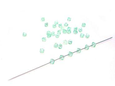 Swarovski® Perlen, 4mm, Bicone, chrysolite, 50 Stück #SW67 – Bild 1