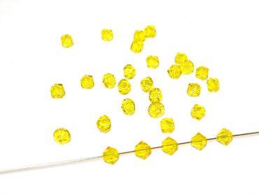 Swarovski® Perlen, 4mm Bicone,light topaz, 50 Stück #SW30