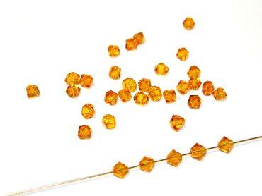 Swarovski® Perlen, 4mm Bicone, topaz, 50 Stück #SW09 – Bild 1