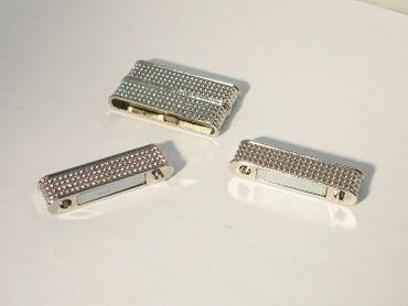 Magnetverschluss für Kette Armband 37x20mm Silber #U117