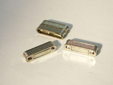 Magnetverschluss für Kette Armband 28x15mm Silber #U115