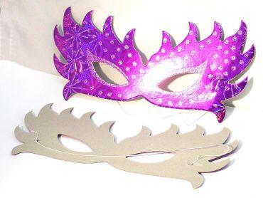 Venezianische Masken für Karneval Fasching Party lila, 2 Stück #F17