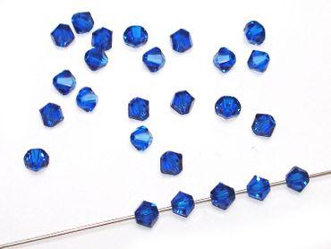 Swarovski® Perlen, 4mm Bicone, capri blue, 50 Stück #SW36 – Bild 1