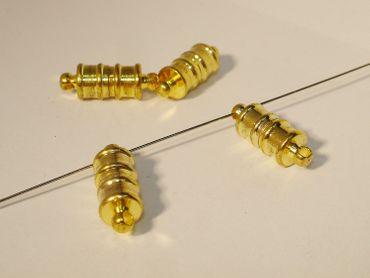 Magnetverschluss, Verschluss, Tube, Gold, 3 Stück #U44