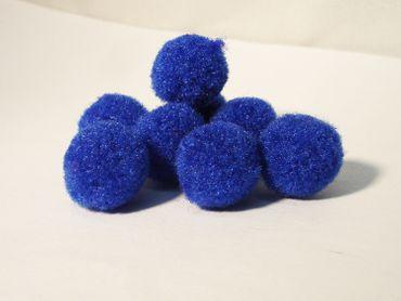 Pompons Bommeln Pompom Blau 13 -15mm, 50 Stück #PP55746B