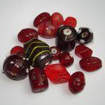 Glasperlen Mix, rot, 50 Gramm #GM4