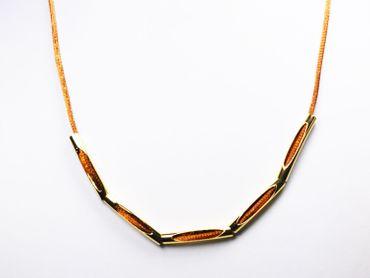 Röhren Metall Tube gebogen 30x5mm Gold, 5 Stück #Z324 – Bild 2