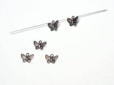 Charms Anhänger Schmetterling 10x12mm Silber, 10 Stück #A03205