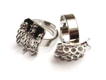 Ringrohling Fingerring 14 Ösen 19mm Silber #U103/5