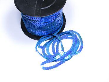 Paillettenband , Bauchtanz Deko, Hochzeit Karneval,Blau AB irisierend, 5 Meter #S60