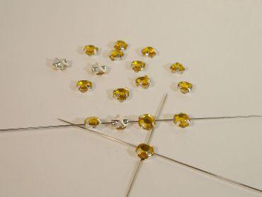 facettierte Kristall Aufnähsteine 5mm citrin 100 Stück P13