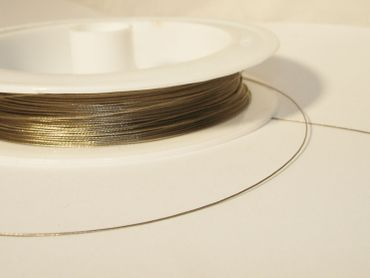 Schmuckdraht Stahlseide, 5 m silber SDS-VA – Bild 3
