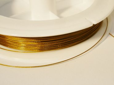 Schmuckdraht Stahlseide, 5 m gold SDG-VA – Bild 1