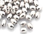 Metallperlen olive 5 x 4 mm Zwischenperle Silber 20 Stück #A02768