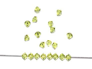 Swarovski® Perlen, 4mm, Bicone, light olivine, 50 Stück #SW78 – Bild 1