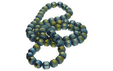 Glasperlen galvanisiert 9mm Petrol AB Beads DIY 20 Stück #G604-20 – Bild 2