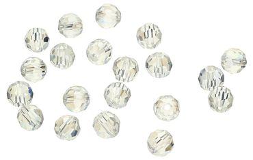 Tschechische Kristall Glasperlen Kristall AB 6mm rund 20 Stück #G246 – Bild 1