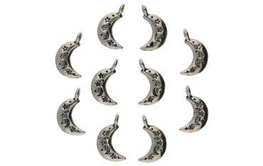 Halbmond Stern Charms für Kette Ohrring 10 Stück # A07221