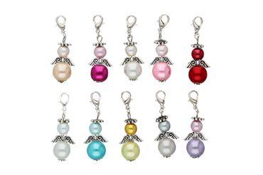 DIY Set für 10 Perlenengel Schutzengel in verschiedenen Farben / Hochzeit Konfirmation Geburtstag Weihnacht Taufe Kommunion Geschenk Gastgeschenk EAS3 – Bild 1