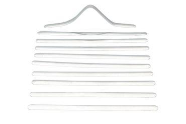 10 x flache Aluminium Mundschutzbügel, Nasenbügel zum Aufnähen oder einkleben – Bild 1
