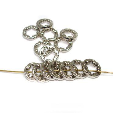 Metallperlen, Ringe, 15mm, Silber, 15 Stück #A23682