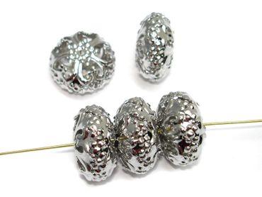Filligrane Metallperlen, Rondelle, 23x13mm, 5 Stück #A22411