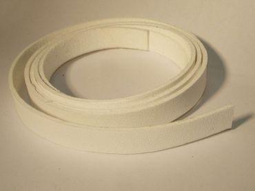Kunstlederband, Armband basteln, Weiß, 1 m #KLE3