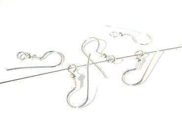 Paar Ohrhaken, Fischhaken, Ohrschmuck, 925 Sterlingsilber #SB92 – Bild 1