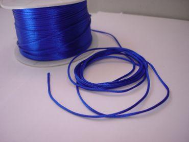 Satinkordel, Kordel Schnur, 1mm, Königsblau, 5 Meter #FM07 – Bild 1