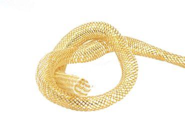 Netzschlauch Schmuckschlauch Gold 16mm, 1 Meter #SH14 – Bild 1