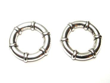 Metall Perlen Ringe Anker Verbinder 25mm Silber, 2 Stück #U188