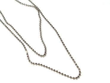 Metallkette Kugelkette 1,5mm Silber, 1 Meter #A05010