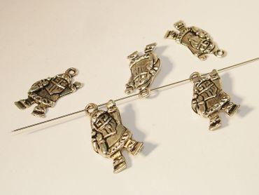 Charms Anhänger Bettelschmuck Nikolaus 23x13mm Silber, 4 Stück #A01537