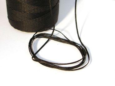 Wachsband, Wachsschnur Perlenschnur, 1mm, Schwarz, 5 Meter #D26