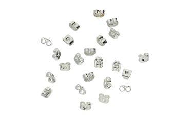 Verschluss Stopper Ohrmuttern für Ohrstecker Silber, 24 Stück #A00309
