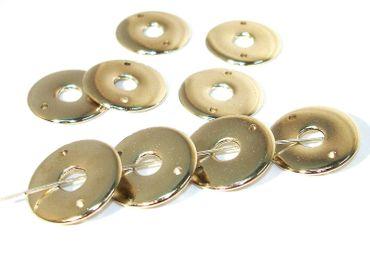 Metallperlen, Scheiben, Verbinder, Metalloptik, Silber, 10 Stück #U133