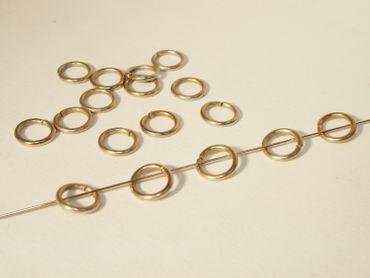 Biegeringe, Spaltringe, 8mm, Silber, 50 Stück #Z24