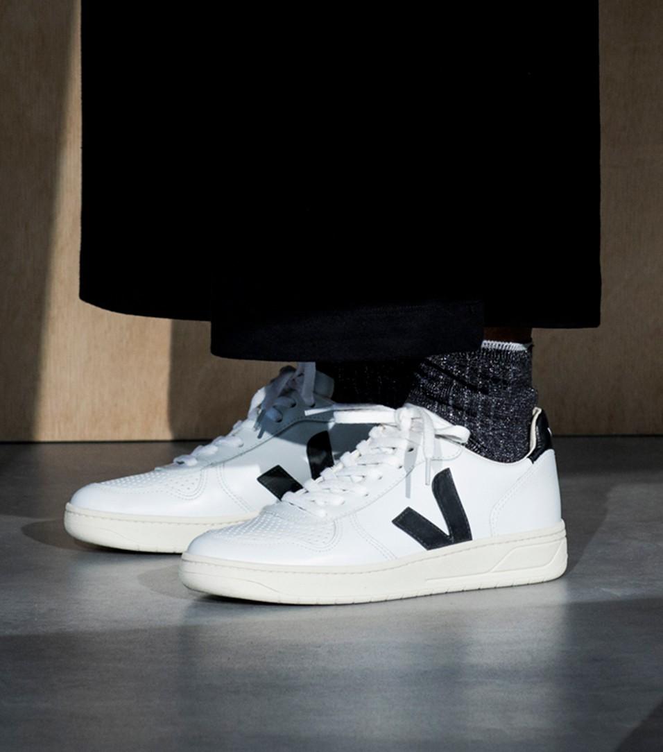 Veja Sneaker V 10 EXTRA WHITE BLACK