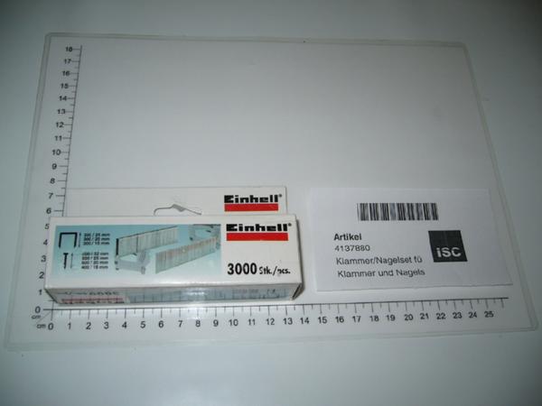 EINHELL Klammer/Nagelset 6mm breit für BT-EN 30E Elektrotacker NEU