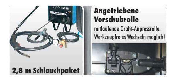 GÜDE SCHUTZGAS  SCHWEISSGERÄT MIG155/6W Schweißgerät 20072 + 5 kg- Rolle Schweißdraht – Bild 3