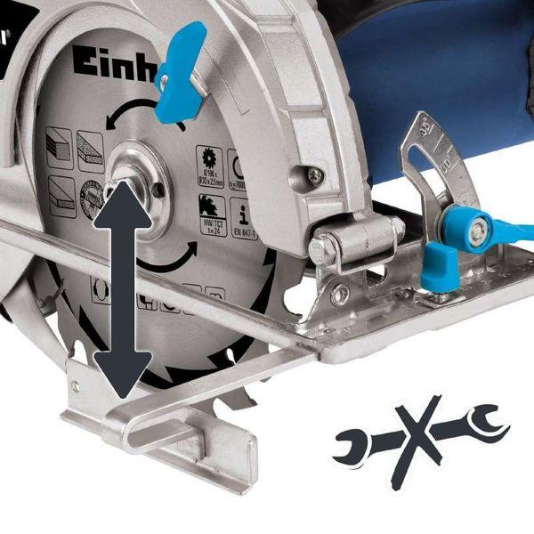EINHELL BT-CS 1400/1 Handkreissäge 1400 Watt Kreissäge incl. Hartmetall Sägeblatt – Bild 3