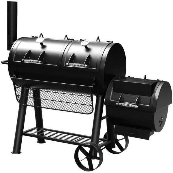 EL FUEGO Smoker Holzkohlegrill MINNESOTA Grill Grillwagen räuchern BBQ AY314 NEU