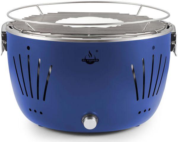 EL FUEGO Holzkohlegrill Rundgrill TUSLA blau Grill BBQ Tischgrill AY5255 NEU – Bild 1