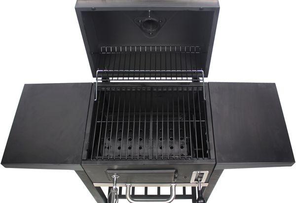 EL FUEGO AY3731 Smoker Holzkohlegrill OTTAWA S Grill Grillwagen räuchern NEU – Bild 5