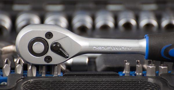 ATROX AY416 Steckschlüsselsatz 132-tlg. Chrom Vanadium Stahl Werkzeugkoffer NEU – Bild 5