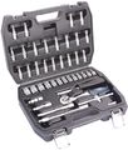 ATROX AY552 Steckschlüsselsatz 46-tlg. Chrom Vanadium Stahl Werkzeugkoffer NEU