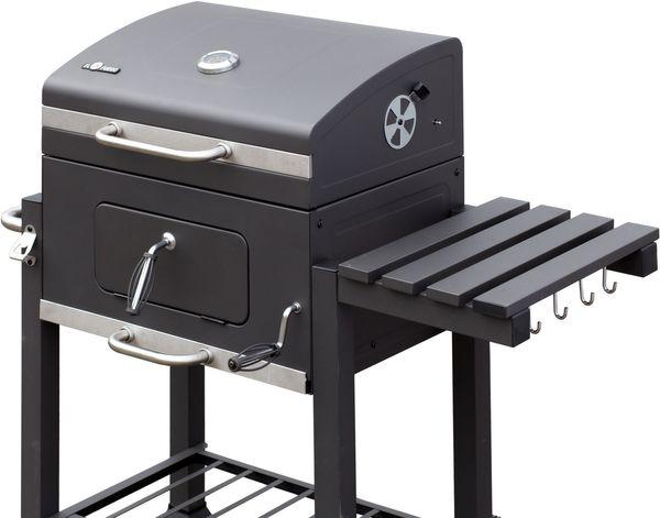 EL FUEGO Holzkohlegrill Grillwagen ONTARIO Grill BBQ fahrbar Stahl AY372 NEU – Bild 3