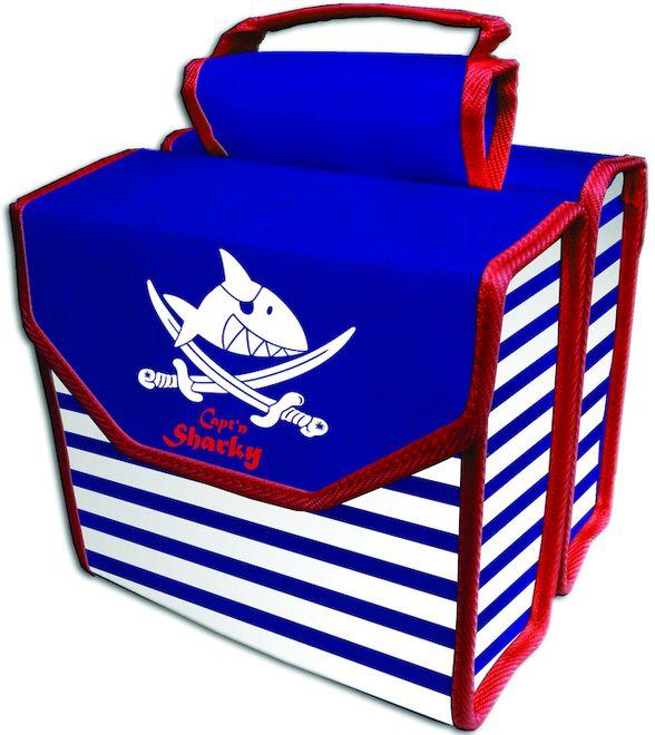 Bike Fashion Kinder Gepäckträgertasche Capt`n Sharky, Blau / Weiß